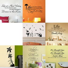 Fashion Optional 7 Patterns Quote Motto DIY Wall Sticker Decals Transfer