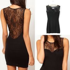 Hot Lady Sexy Lace Sleeveless Bodycon Evening Party Cocktail Mini Dress Clubwear