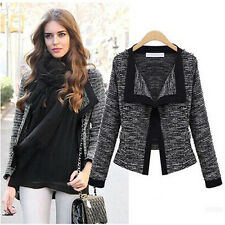 Casual Women Slim Short Knit Coat Cardigan Jacket Sweater Outerwear Top New S-XL