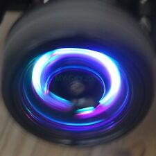 12mm Metal Wheel HEX dyamaic LED wheel lights for 1:10 RC On road drift cars