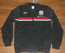 Wales Welsh Umbro Retro Training Football black track knit Jacket S M L XL