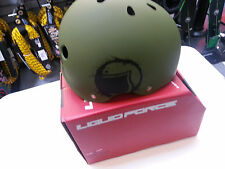 NEW in Box 2013 LIQUID FORCE Core army GREEN Safety Wakeboard HELMET LF-95