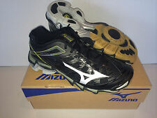 NEW Women's Mizuno Wave Lightning RX3 Volleyball Shoe black/Silver #430168.9073