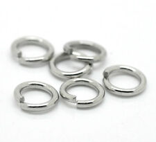 Wholesale DIY Jewelry Silver Tone Stainless Steel Open Jump Rings 7mm x 1.2mm
