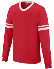 Augusta Sportswear Youth Sports V-Neck Long Sleeve Stripe Jersey T-Shirt. 373