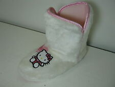 Filles Hello Kitty Moelleux Blanc Chaussons Bottines