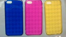 TPU Rubber Skin Case compatible with Apple iPhone 5G 5S Clear Colored