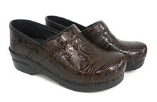 Dansko Women's Professional Tooled Brown Clog 906-530202 New & Authentic