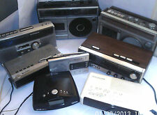 1970/2000's CLOCK RADIOS & RADIO CASSETTES Sony Dream Machine   see menu below