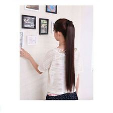 70CM Fashion Girls Long Straight Horsetail Ponytail Wig College Wind 4 Color