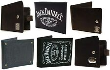 Jack Daniels Men's Bi Fold Design Leather Wallet With Coin Pocket New + Official