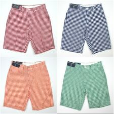 New Polo Ralph Lauren Straight Checked Shorts Red/Blue/Green/Orange Multi Sizes