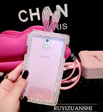 Luxury Rabbit Ear Bling Crystal Cover Case For Samsung Galaxy S5 Note 3