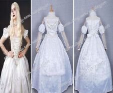 Alice In Wonderland Cosplay Costume White Queen Dress Exquisite And Noble New