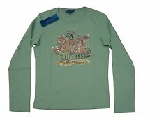 LADIES FRENCH CONNECTION BEST FCUK IN WORLD LONG SLEEVED T - GREEN