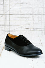 Urban Outfitters Black Leather Lace Up Shoes BNWOB UK 3 4 5 8 Deena & Ozzy £42