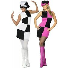 Mod 60s Costume Adult Womens Go Go Girl Halloween Fancy Dress