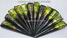 RUHANI BLACK Henna Cones Temporary Herbal Tattoo KIT INK Body PAINT Mehndi -PICK