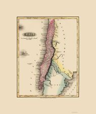 Old South America Map - Chile - Lucas 1823 - 23 x 27.24