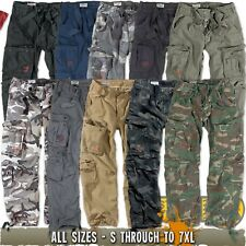 SURPLUS AIRBORNE MENS COMBAT CARGO PANTS - CAMO ARMY MILITARY WORK TROUSERS