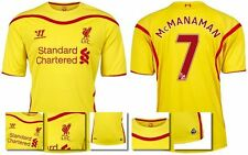 *14 / 15 - WARRIOR ; LIVERPOOL AWAY SHIRT SS / McMANAMAN 7 = KIDS SIZE*