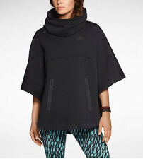 Nike Tech Fleece Women's Poncho Jacket Hoodie Black 605377-010 Msrp $130 Limited