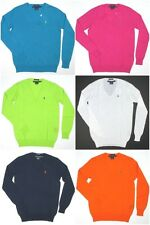 New Polo Ralph Lauren Women's V-Neck Sweater Boyfriend Fit Multiple Colors Sizes
