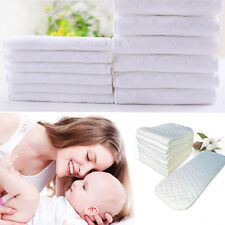 Baby Nontoxic 3Layers Cotton Cloth Diaper Ecological Nappy Liner Insert Washable