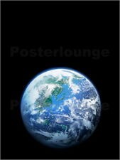 "Poster / Leinwandbild ""The earth, computer graphic, blac..."" - VGL/amanaimagesRF"