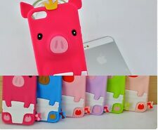 1X Hot Lovely 3D Pig Crown soft Silicone Case Cover For Apple iPhone 5 5TH 5G