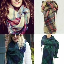 2014New Women Man's Large Tartan Scarf Wrap Shawl Neck Stole Warm Plaid Pashmina