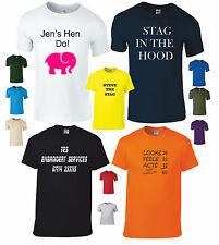 Mens Ladies Custom T-Shirt Printing Design Your Own T-Shirts Stag Hen Free Post