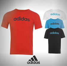 Kids Junior Branded Adidas Lin Logo T-Shirt Top Size Age 7 8 9 10 11 12  13 Yrs