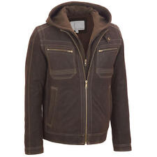 Wilsons Leather Mens Suede Hooded Jacket