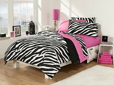 30 Pc. Reversible Comforter Bedding & Bath Set Twin X-Long Bed in a Bag Bedroom