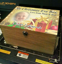 PERSONALISED WOODEN MEMORY TRINKET JEWELLERY BOX CHRISTMAS EVE GIFT