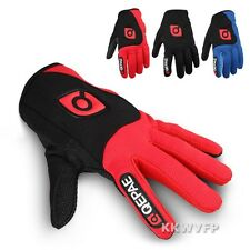 3Color Men Adult Mesh Full Finger Road Mountain Bicycle Cycling Bike Gloves M-XL
