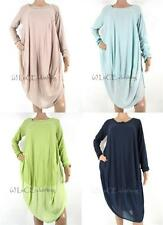 NEW Womens Asymmetric Italian Soft Touch Lagenlook Cocoon Tunic Dress