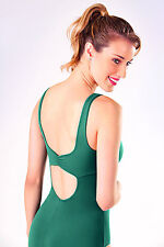 NEW! WOMENS BALLET LEOTARD W/ A PINCHED FRONT AND FLAT BACK. 6 COLORS! (RDE1524)