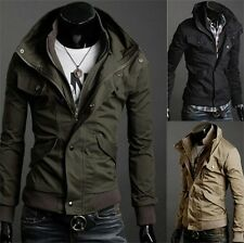 NEW Military Men's Slim Fit Stand Collar Jacket Coat Overcoat Asian SIZE M LXL