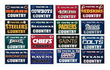 "YOU""RE IN NFL TEAM COUNTRY  FLAG 3 x 5   ALL NFL TEAMS"