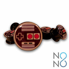 Pair of Nintendo NES Inspired Controller Acrylic Ear Plugs Tunnel Gauge Expander