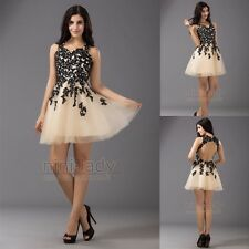 New Short Black Lace Ball Gown Evening Party Homecoming Prom Cocktail Dresses