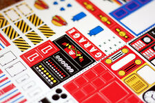 ☆ ☆ ☆ LEGO Reproduction Stickers / Decals [Set N°s. 0-5999] ☆ ☆ ☆