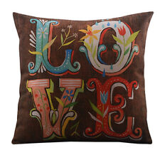 "18"" Room Decorative Cushion Cover Back Seat Sofa Throw Pillow Case Colorful Love"