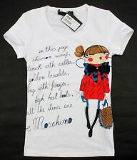 2014 Love Moschino Women's Cute Girl Character Cotton T-Shirt/Top 19107