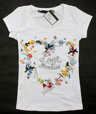 New Love Moschino Women's Colourful Flowers Girls Beads Heart T-Shirt/Top 19126