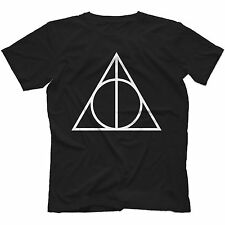 Deathly Hallows Triangle T-Shirt in 13 Colours HARRY POTTER INSPIRED HOGWARTS