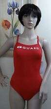 SPEEDO red GUARD lifeguard performance level II Flyback Swimsuit,6,8,10,12,14