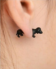 1 piece Vogue Cool Black Cat Kitten Dog Impalement Pearl Lady Girl Stud Earrings
